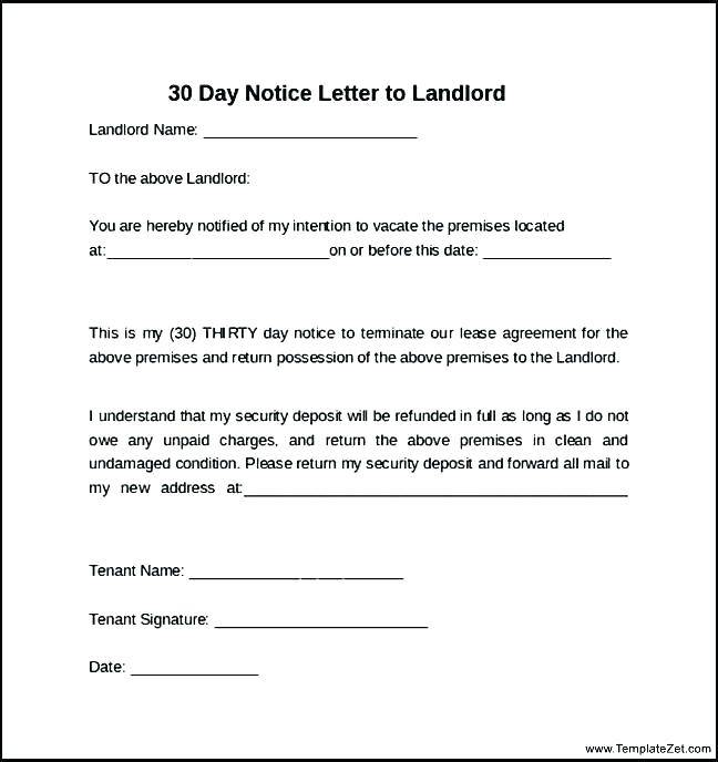 Tenant Notice To Vacate Template Nsw