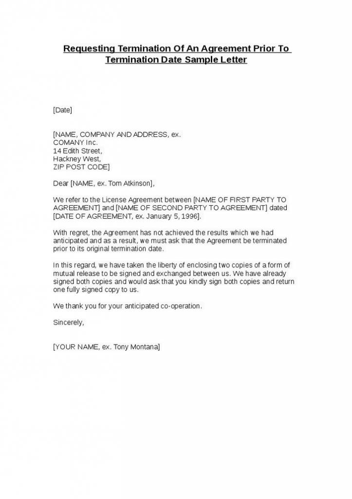 Termination Contract Template