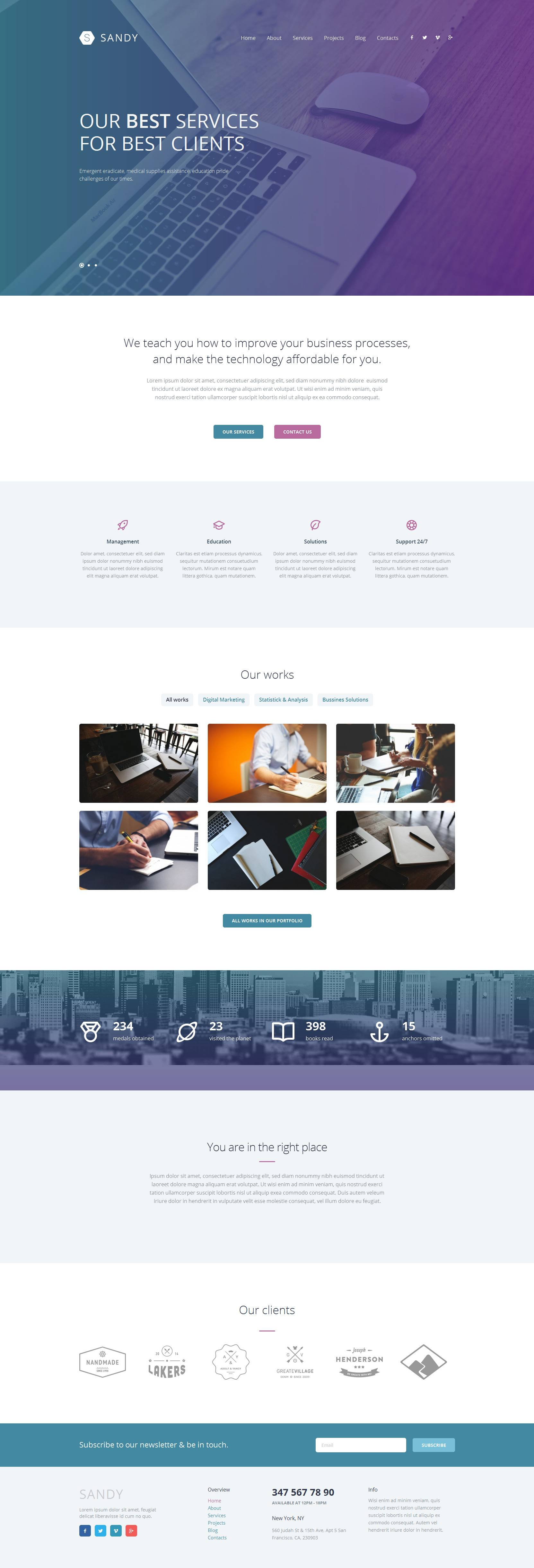 Theme Wordpress Responsive Design