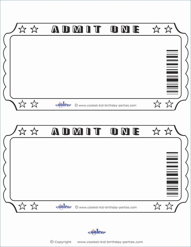 Ticket Invite Template Free