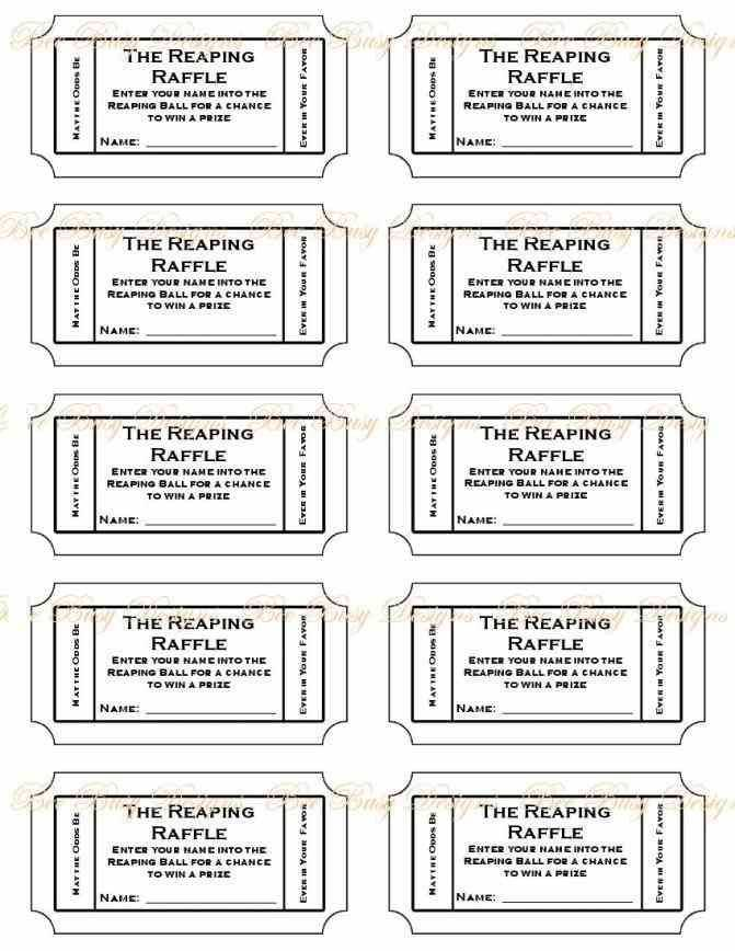 Ticket Printable Template