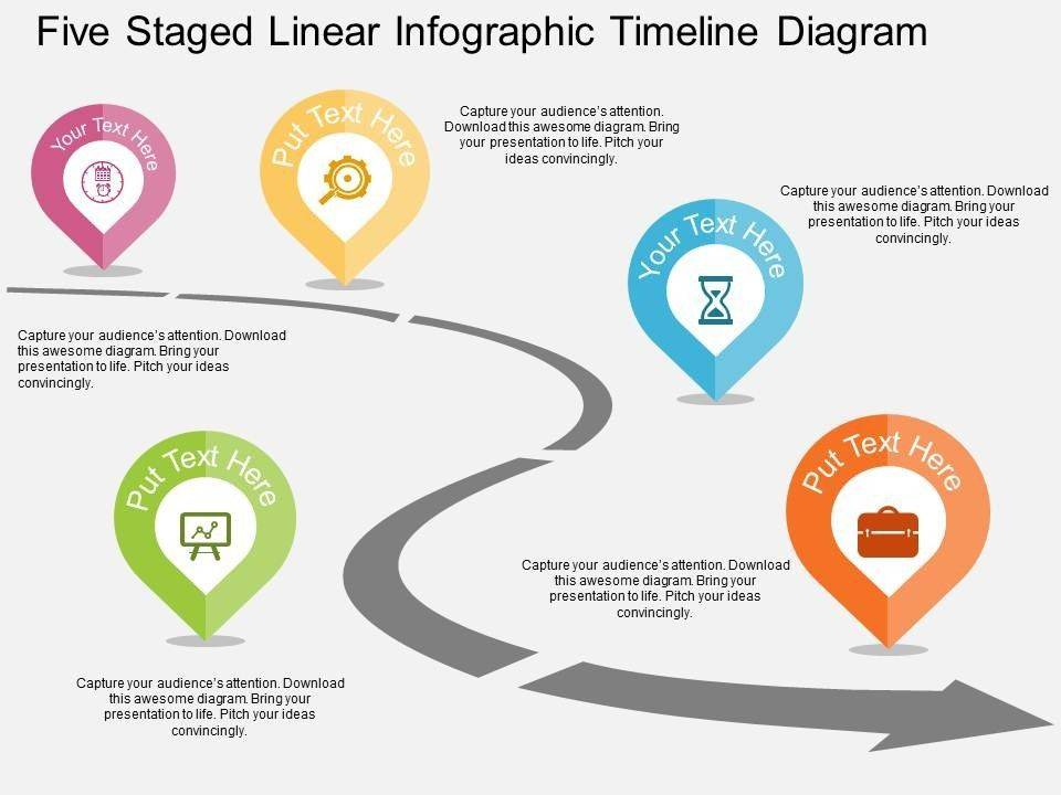Timeline Roadmap With Milestones Powerpoint Template