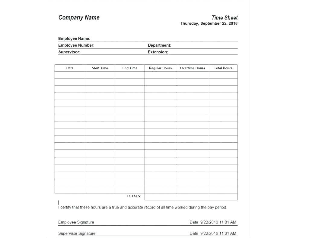 Timesheet Invoice Template