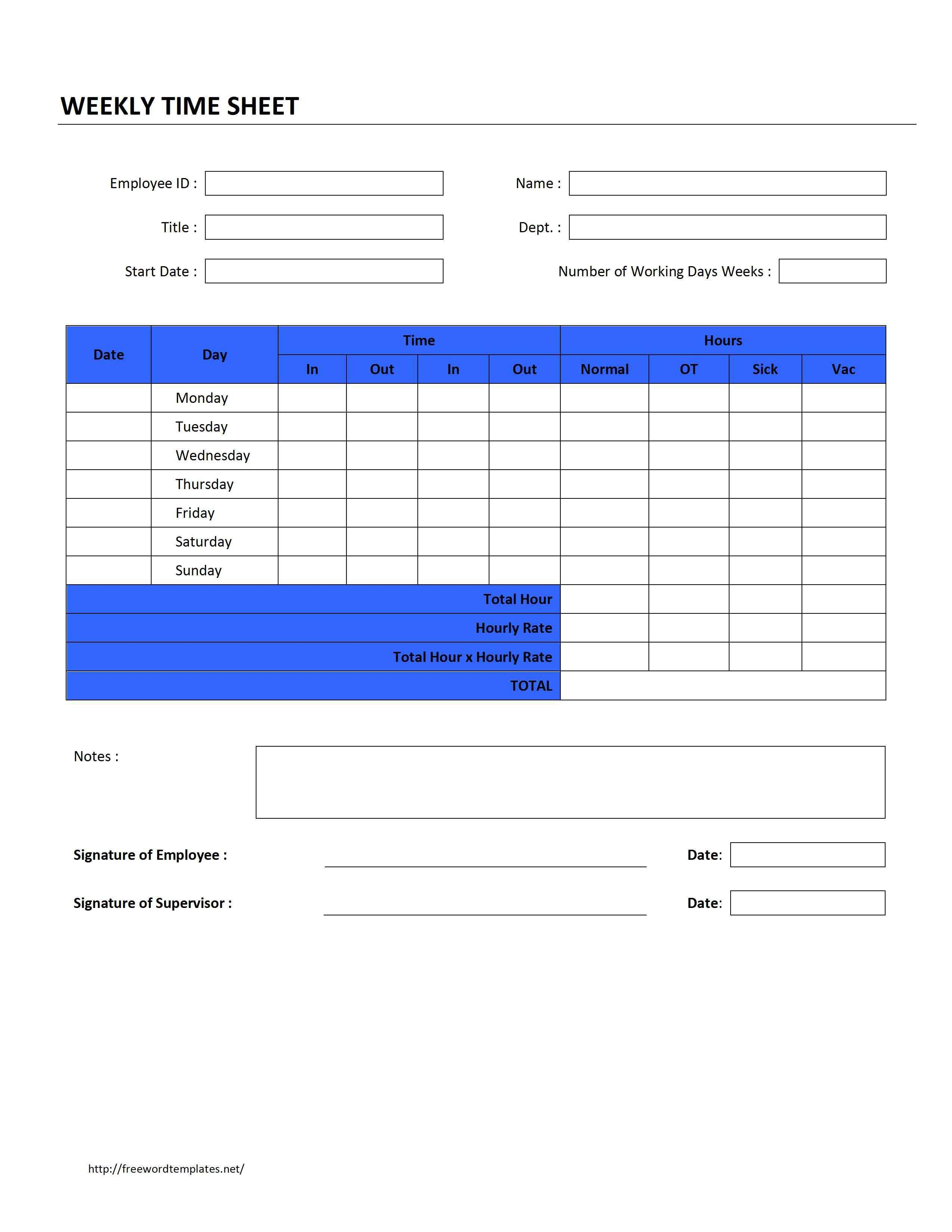 Timesheet Invoice Templates
