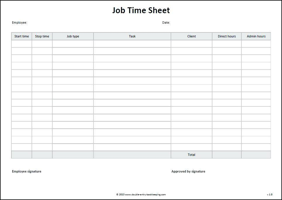 Timesheet Templates For Google Sheets