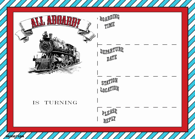 Train Party Invitation Template