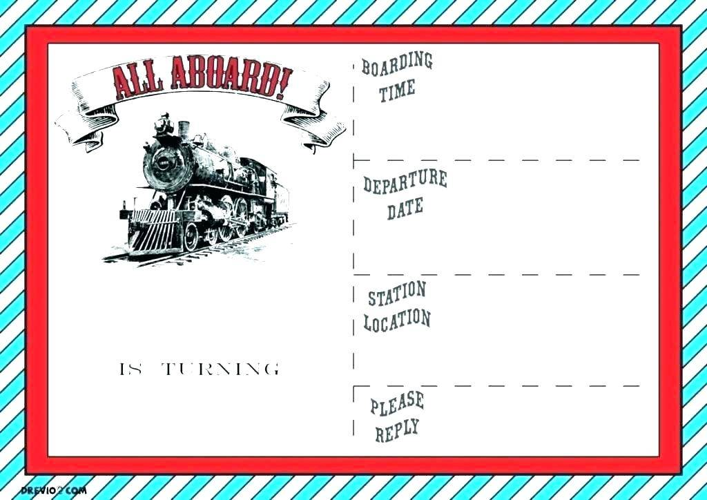 Train Ticket Invite Template Free