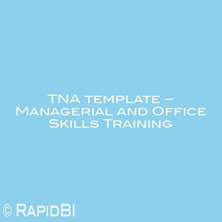 Training Needs Analysis Spreadsheet Template
