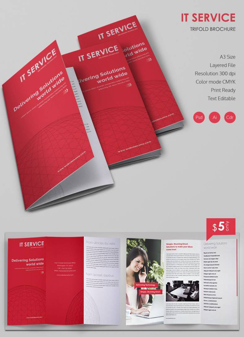 Tri Fold Brochure Template Freepik