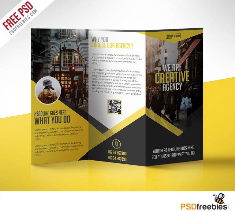 Tri Fold Brochure Template Psd Free