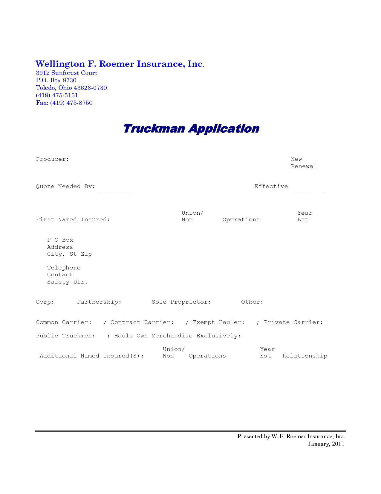 Truck Driver Lease Agreement Form
