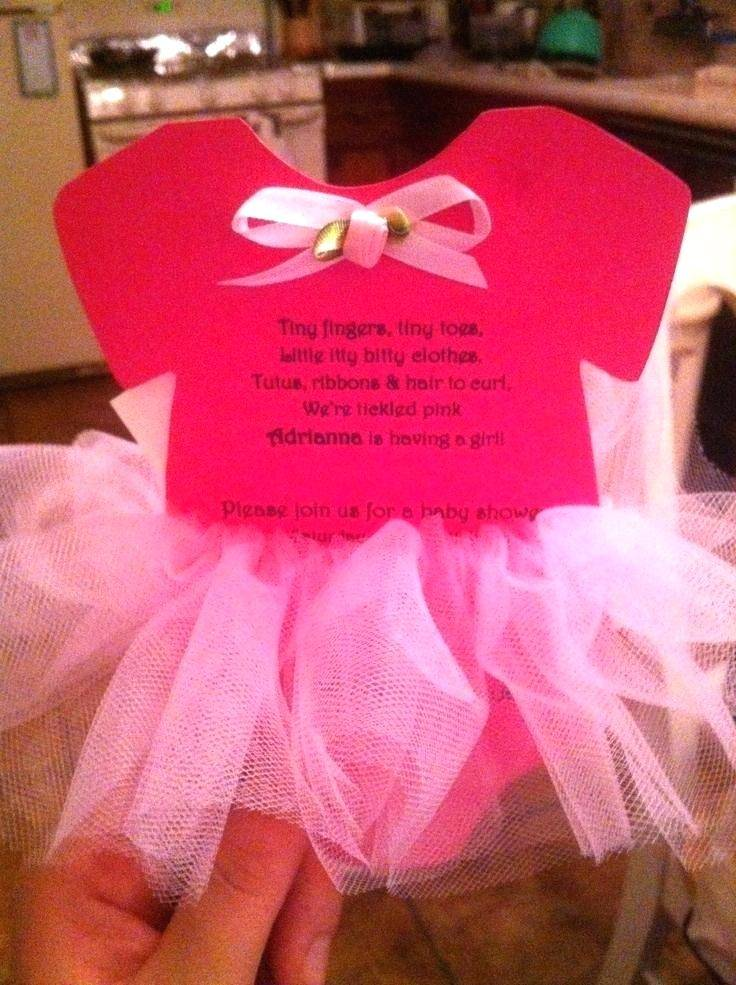 Tutu Dress Invitation Template