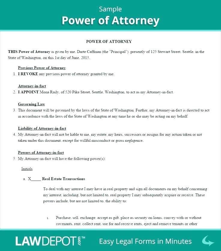 Uk Power Of Attorney Template Free