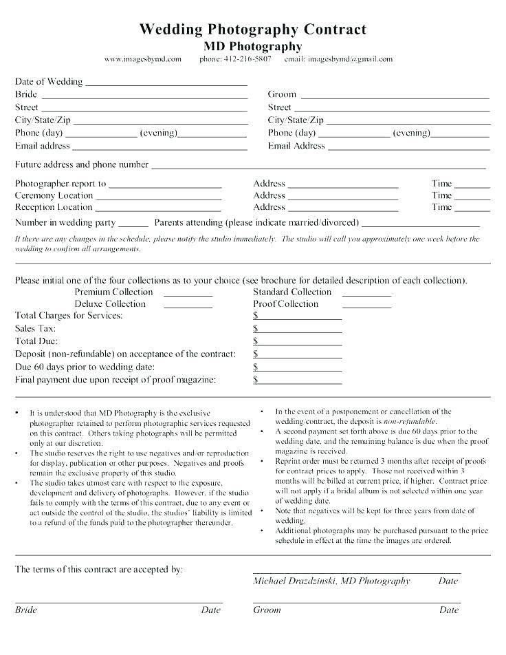 Wedding Photography Contract.Uk Wedding Photography Contract Templates Templates 139136
