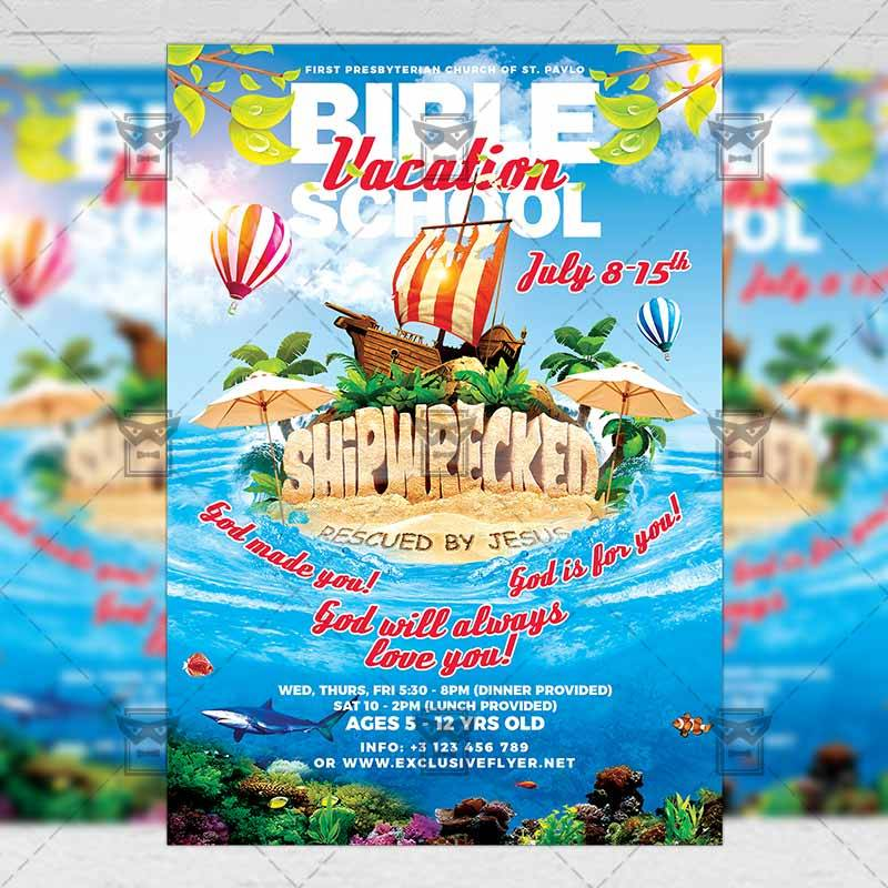 Vacation Bible School Flyer Template Free