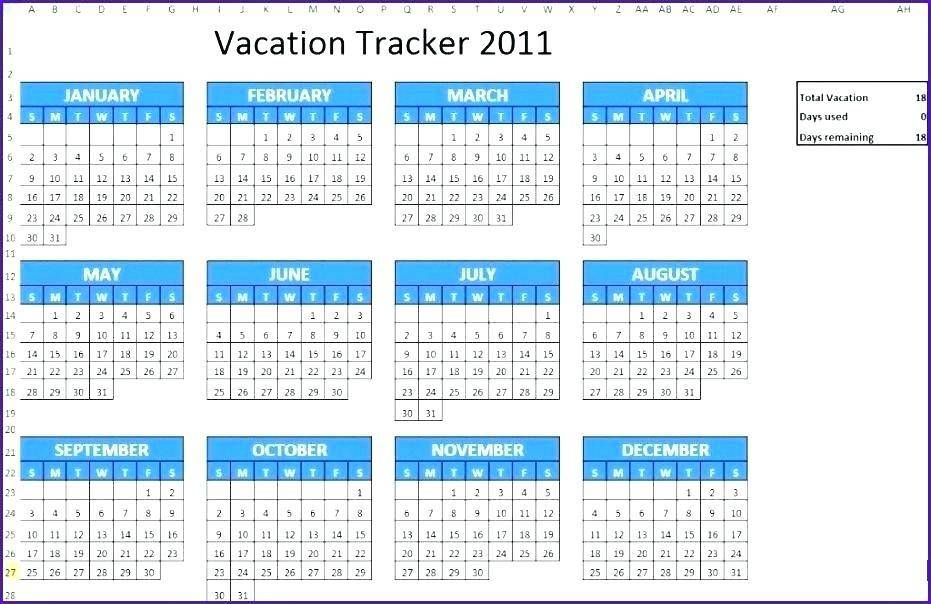 Vacation Schedule Template Word