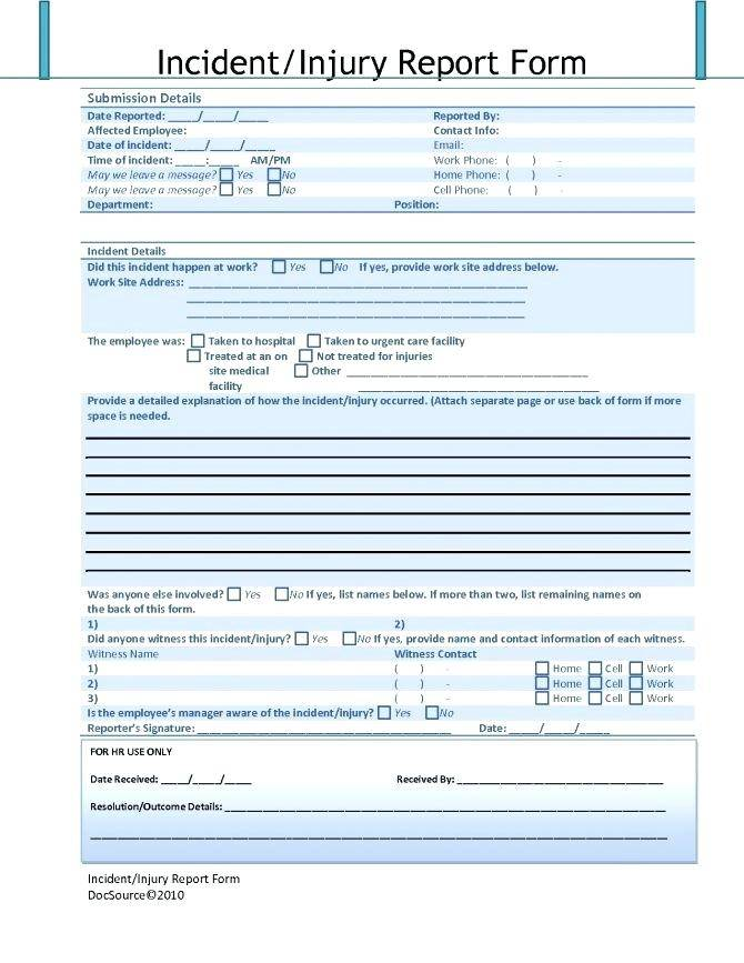 Vehicle Accident Report Template Microsoft Word