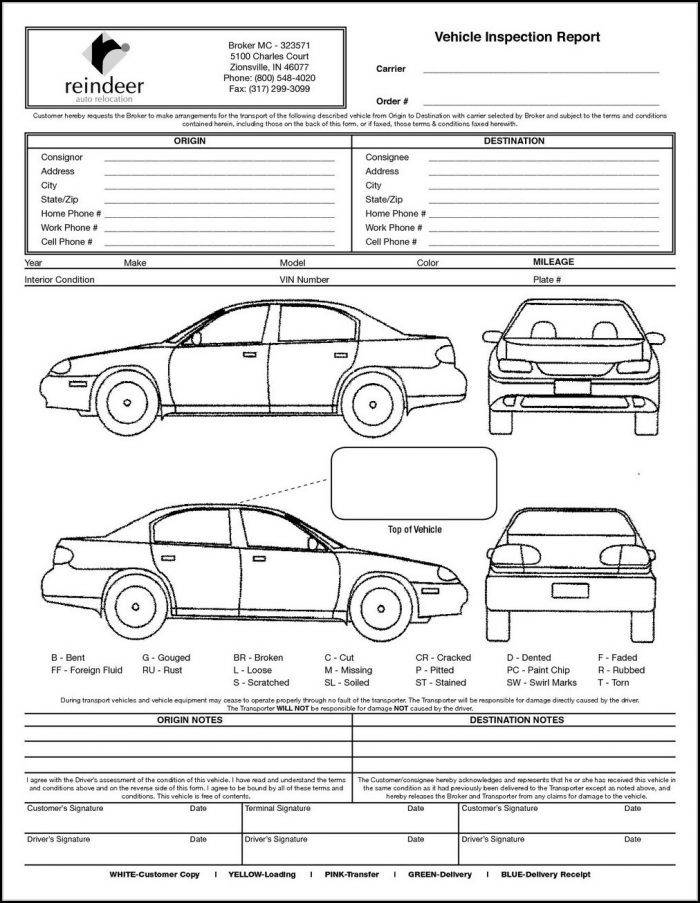 Vehicle Inspection Template Download