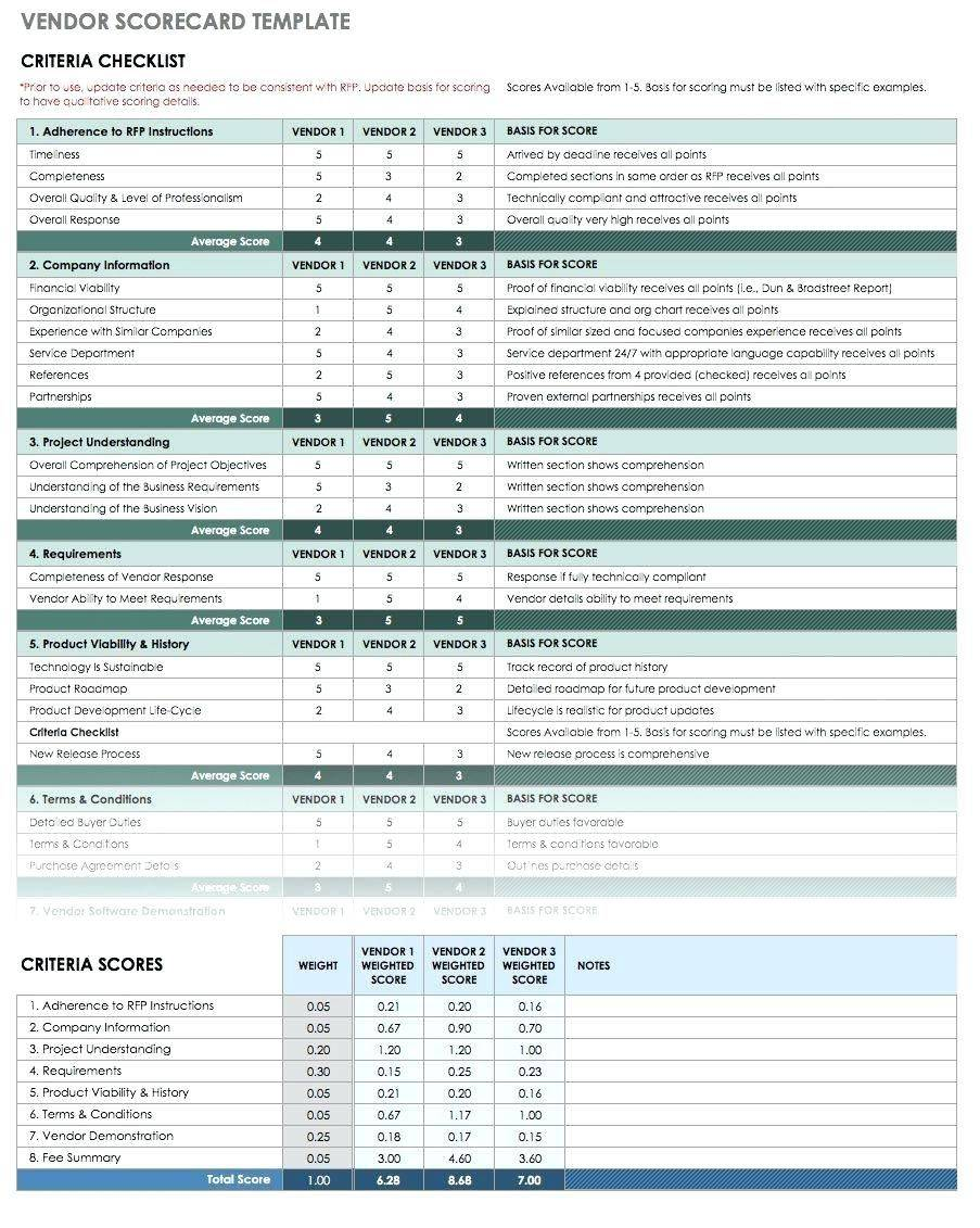 Vendor Assessment Template
