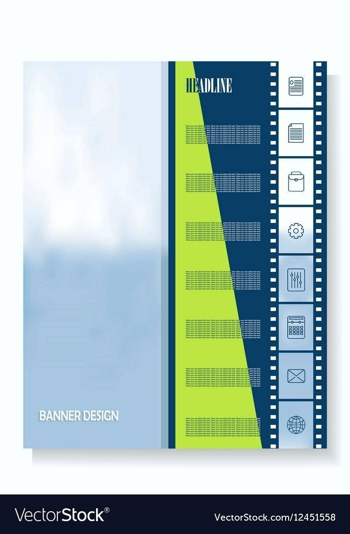 Vertical Banner Template Word