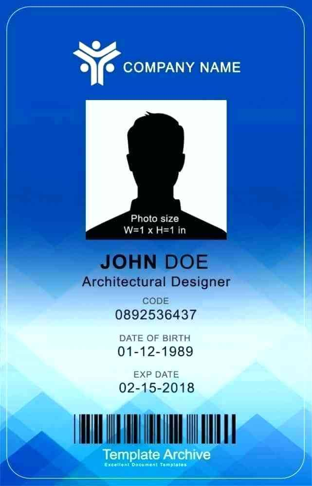 Vertical Id Badge Psd Template