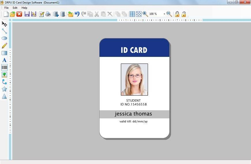 Vertical Id Badge Template Word