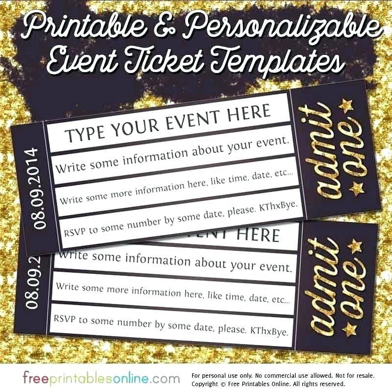 Vintage Ticket Invitation Template Free