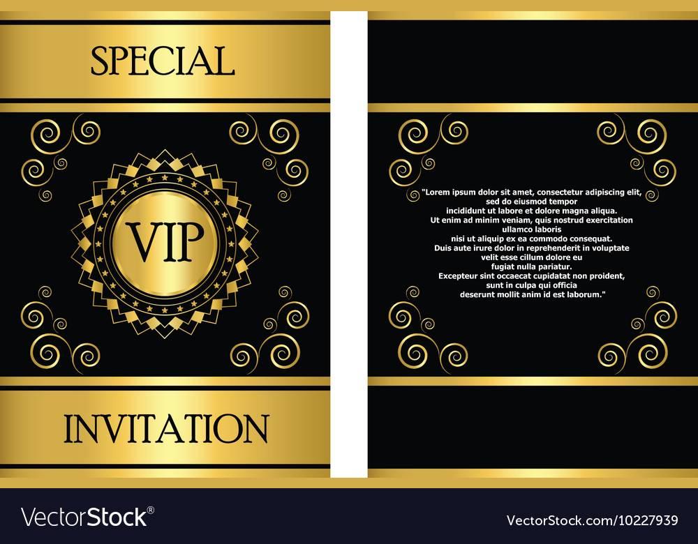 Vip Event Invitation Template