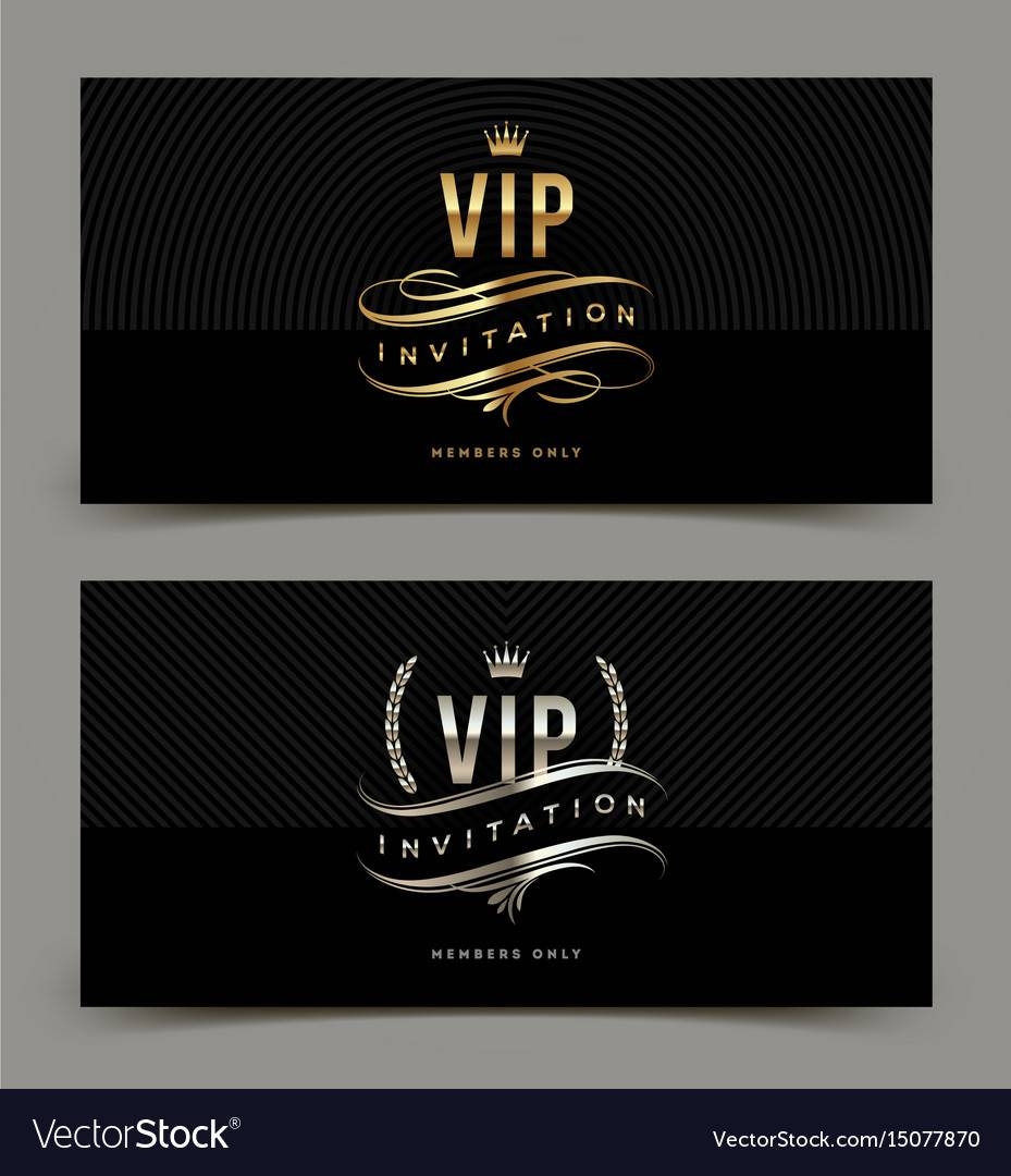 Vip Invitation Template
