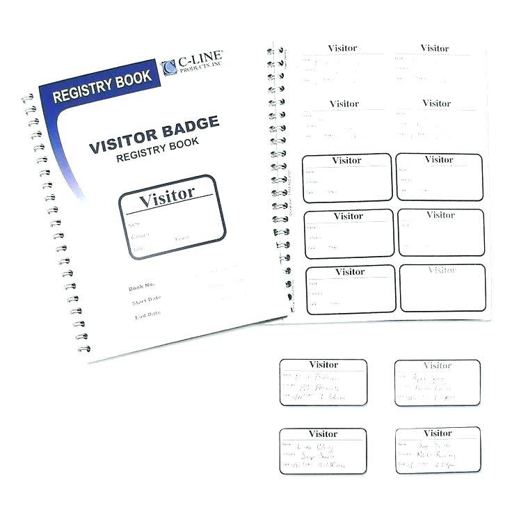 Visitor Badge Sign Log Template