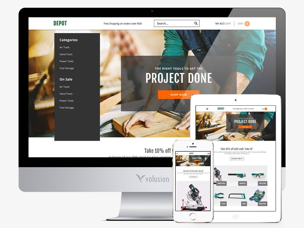 Volusion Mobile Responsive Template