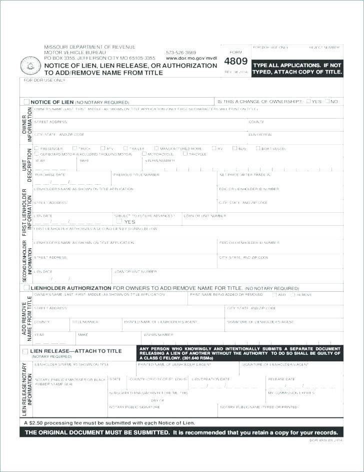 Waiver Of Lien Form Ohio