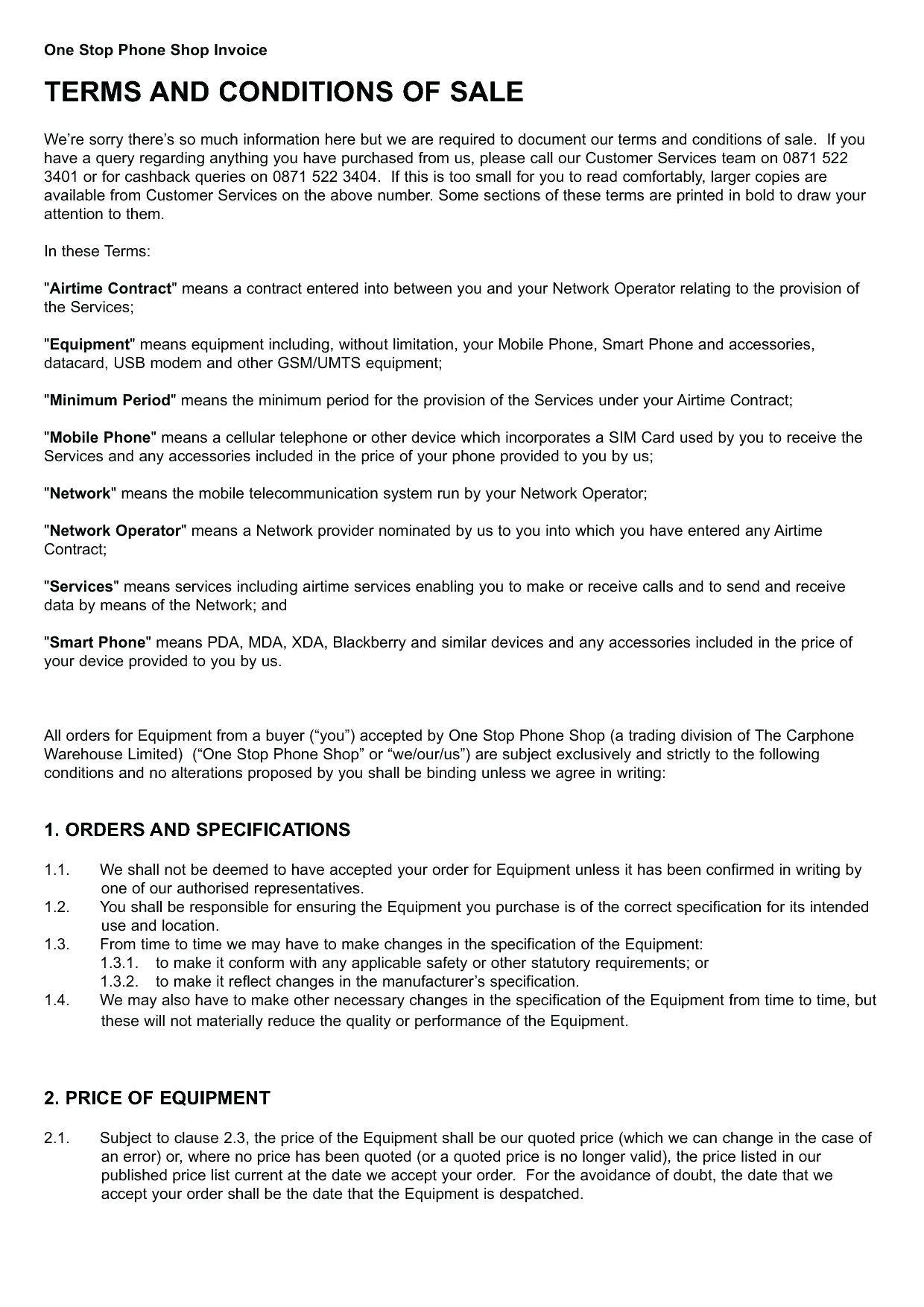 Warehouse Service Level Agreement Template