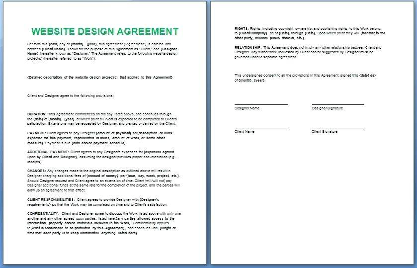 Website Retainer Agreement Template