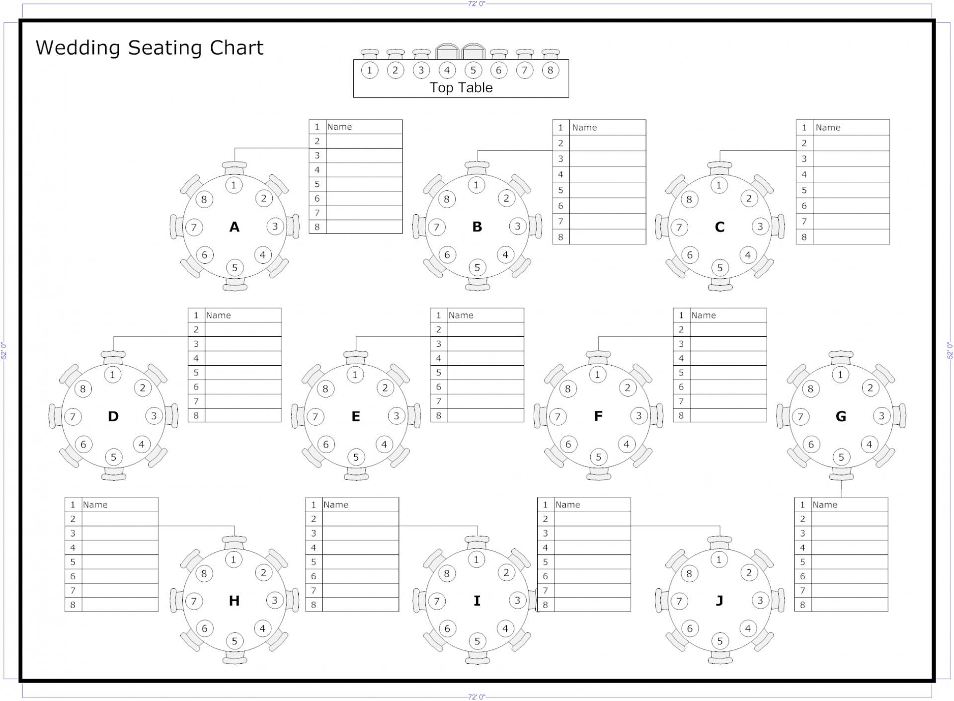 Wedding Ceremony Seating Plan Template