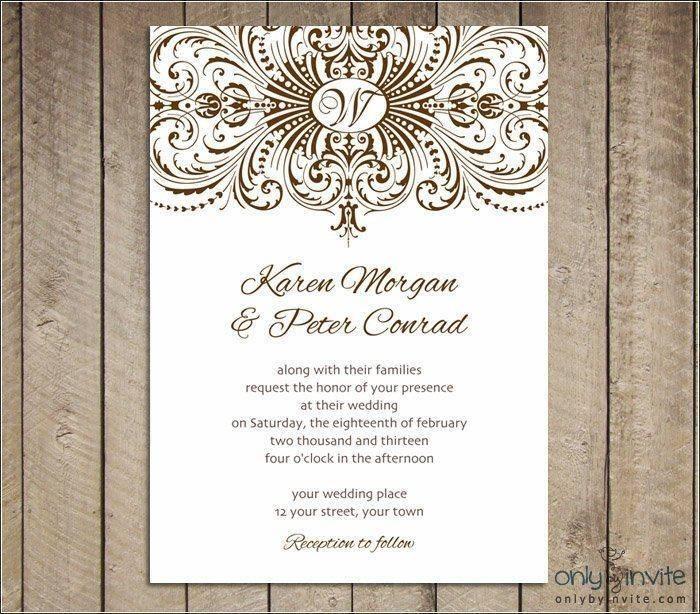 Wedding Invitation Templates Psd