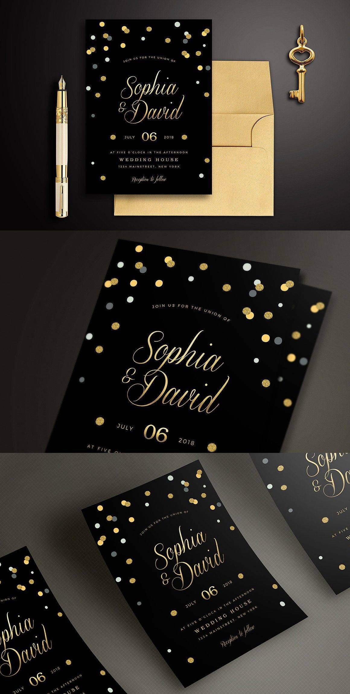 Wedding Invitations Templates Psd