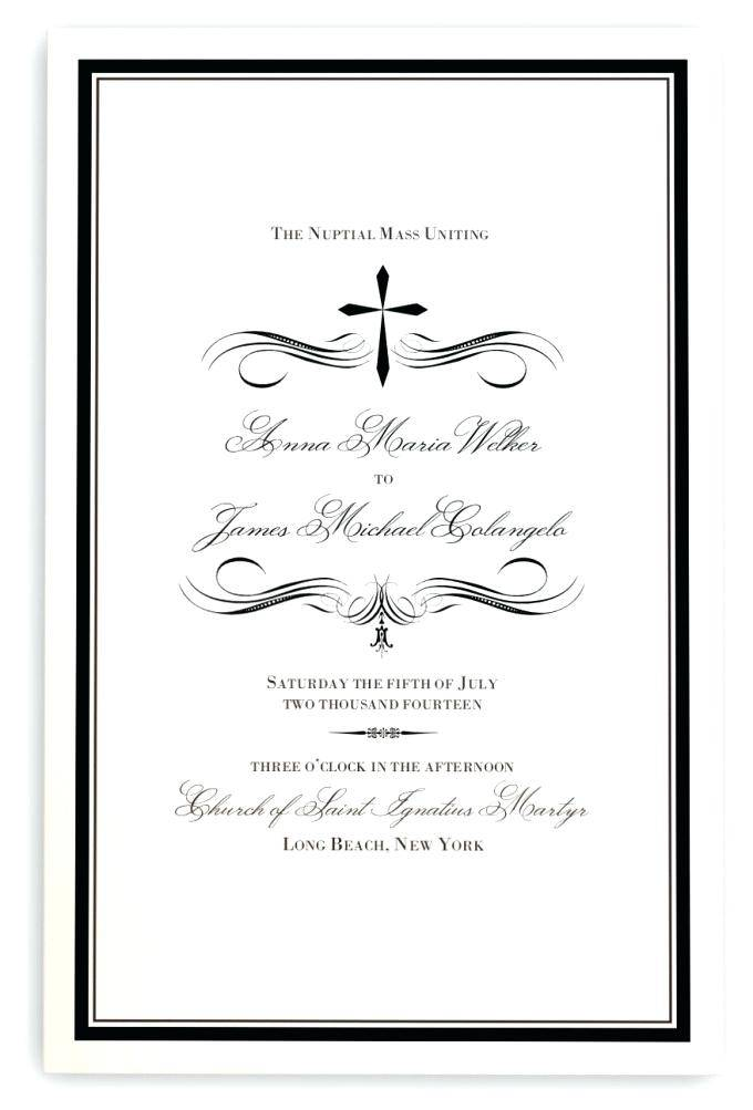 Wedding Reception Program Layout