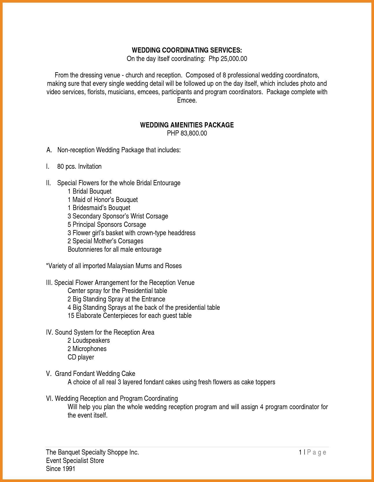 Wedding Reception Sample Program Flow Philippines