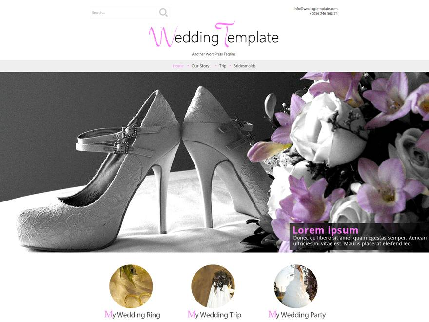 Wedding Theme Wordpress Free Download