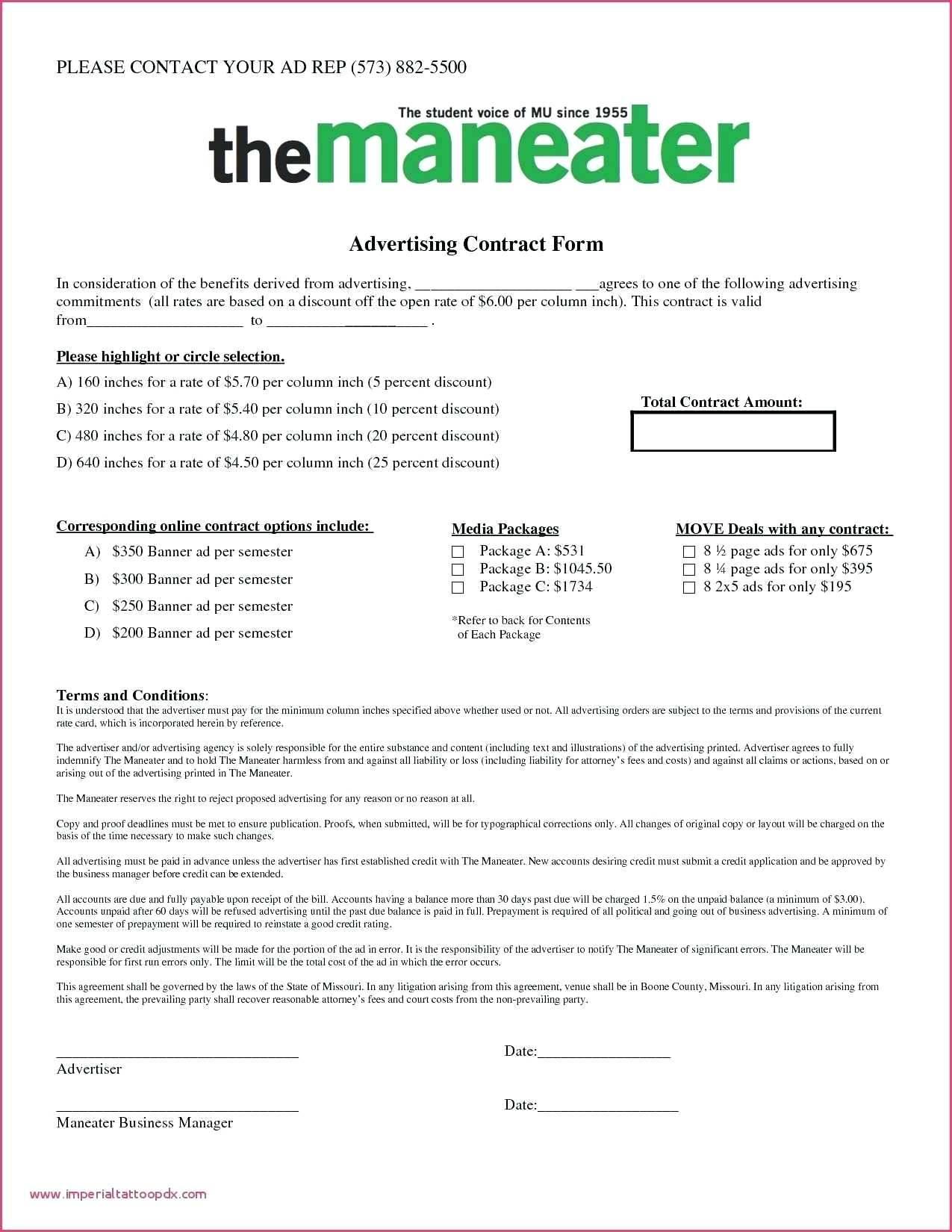 Wedding Venue Contract Form