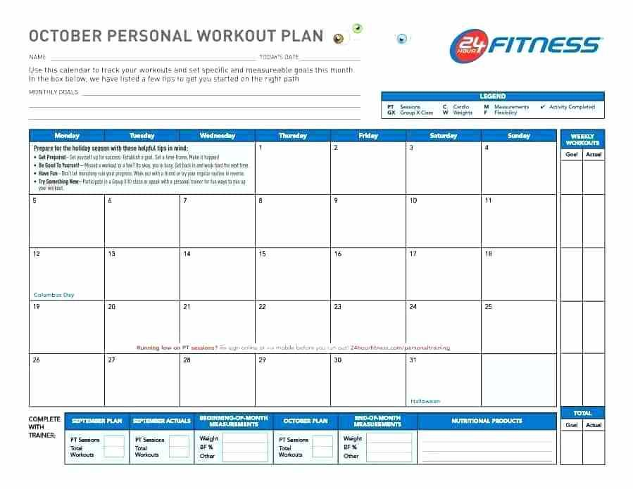 Weekly Fitness Class Schedule Template