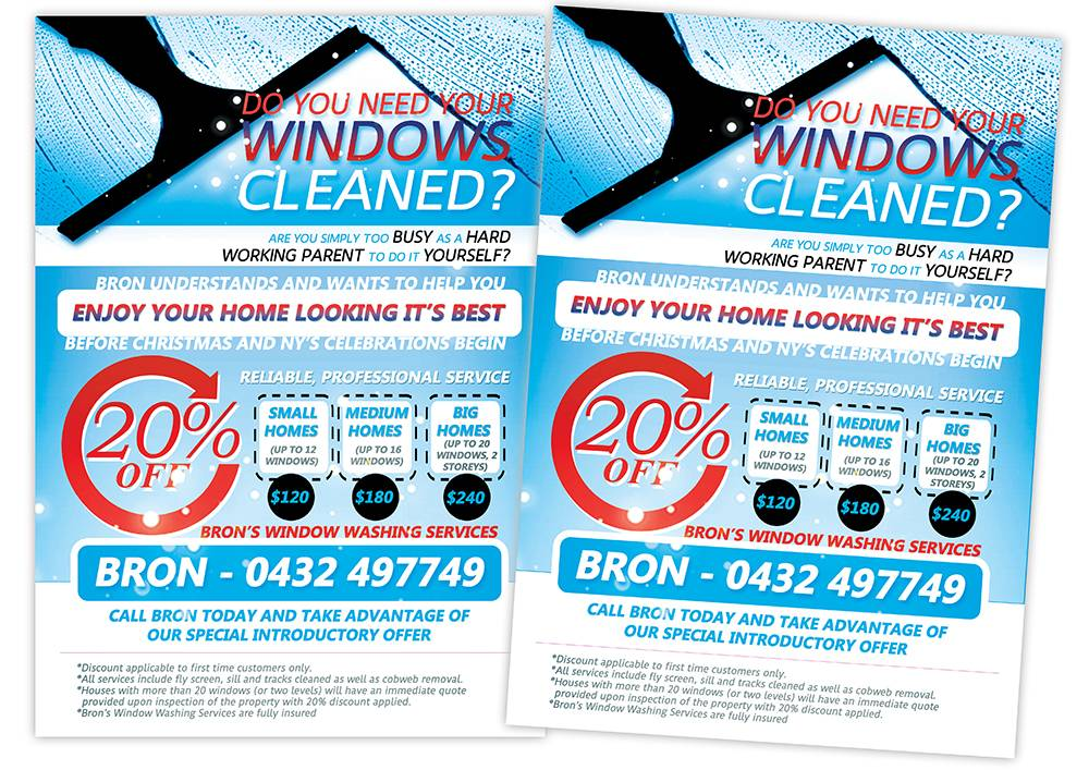 Window Cleaning Flyer Templates