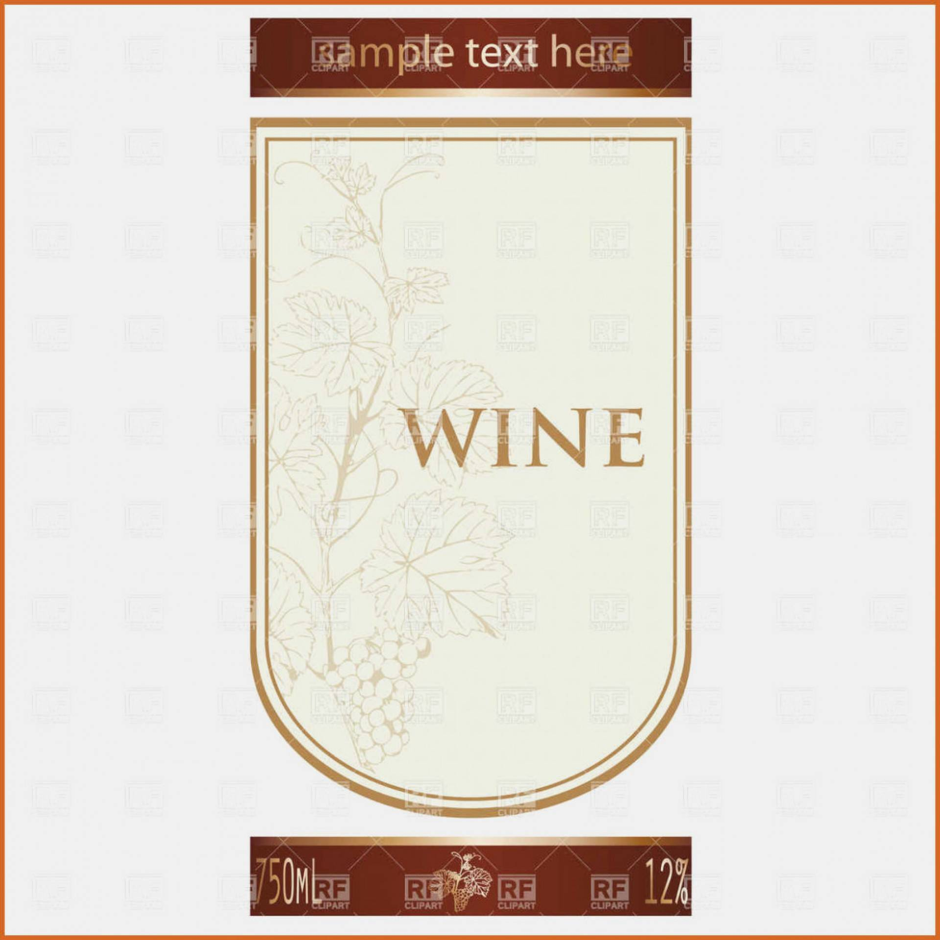 Wine Bottle Label Template Microsoft Word
