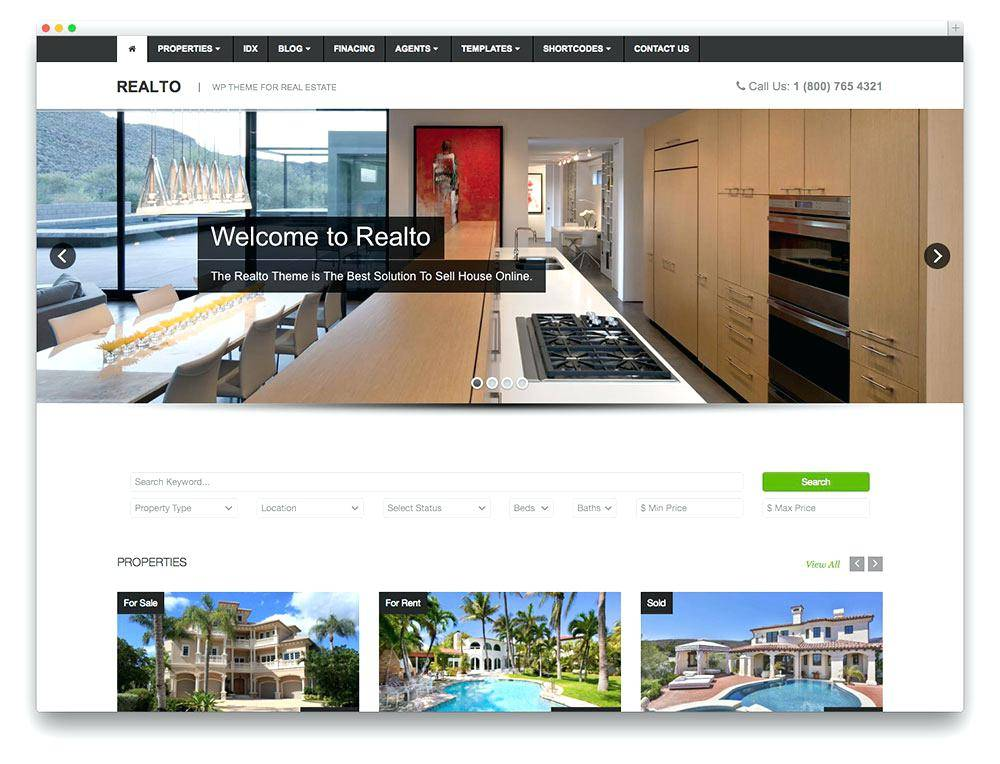 Wix Real Estate Theme