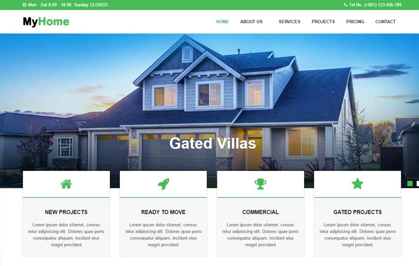 Wix Real Estate Website Templates