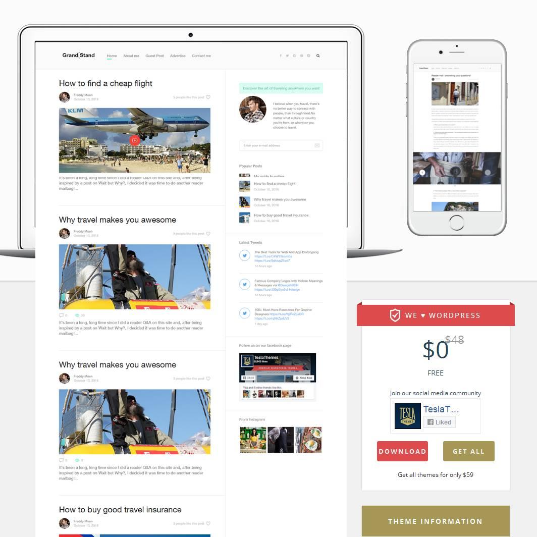Wordpress Blog Templates Php