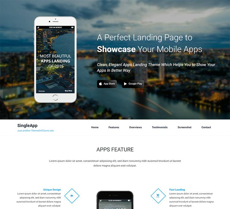 Wordpress Parallax Theme