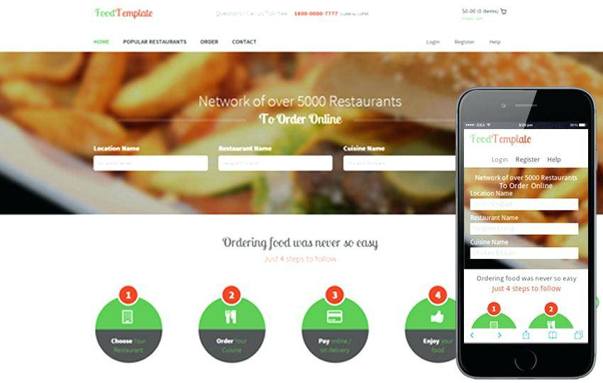 Wordpress Restaurant Templates Free Download