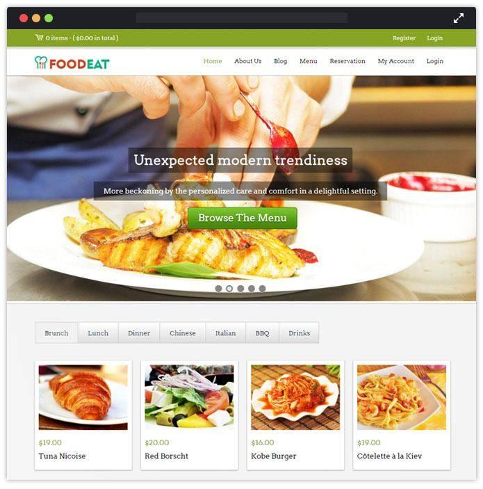 Wordpress Restaurant Website Templates